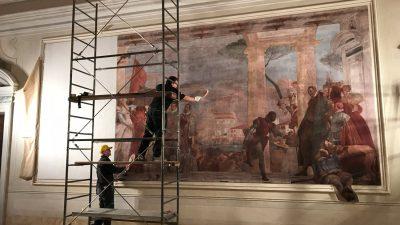 Ricostruzione affresco di Tiepolo