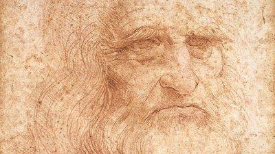 Riproduzione dell'autoritratto di Leonardo