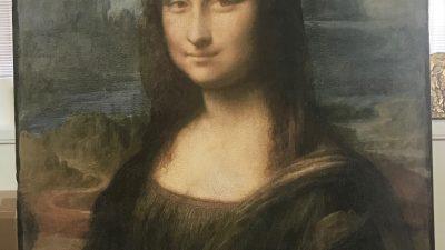 """Riproduzione su tavola della """"Gioconda"""" Leonardo da Vinci"""