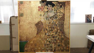 """Riproduzione su tela """"Il ritratto di Adele Bloch Bauer"""" Klimt"""