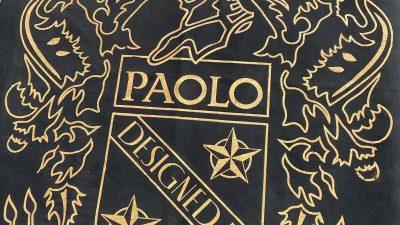 Velluto decorato con foglia oro